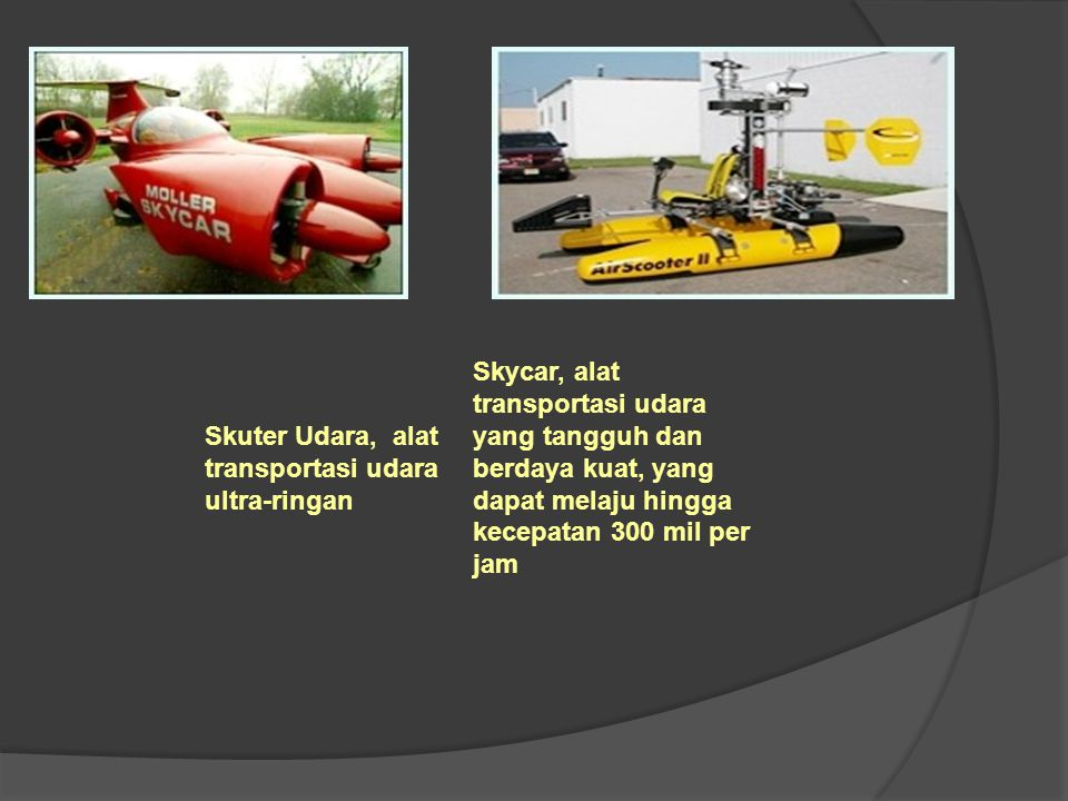 Skuter Udara, alat transportasi udara ultra-ringan
