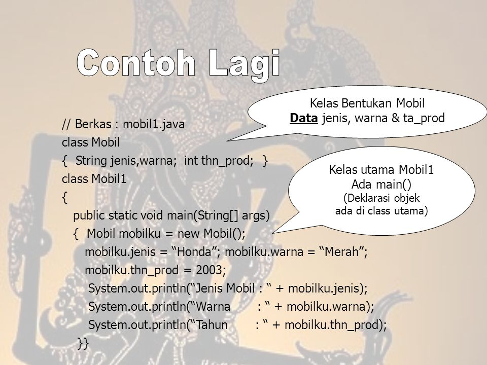 Data jenis, warna & ta_prod