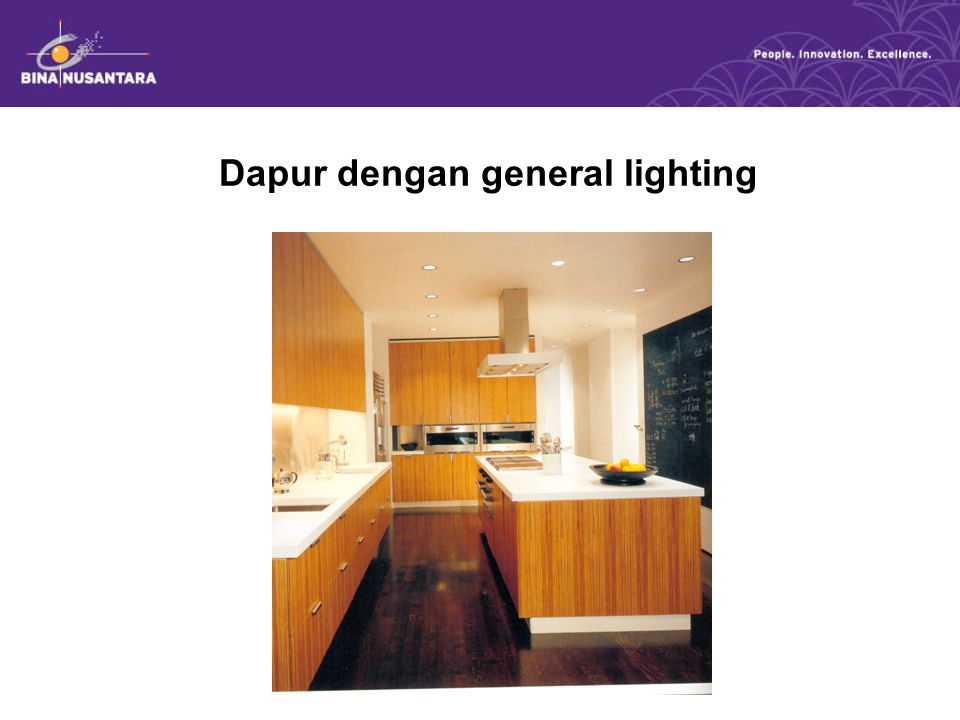 Dapur dengan general lighting