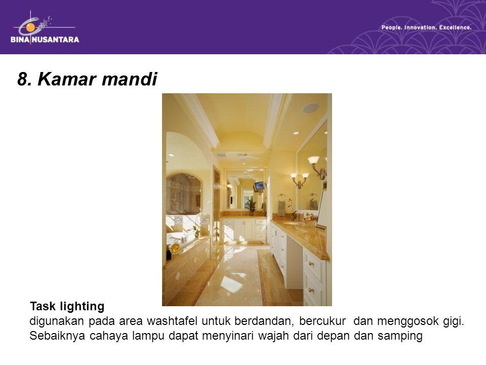 8. Kamar mandi Task lighting
