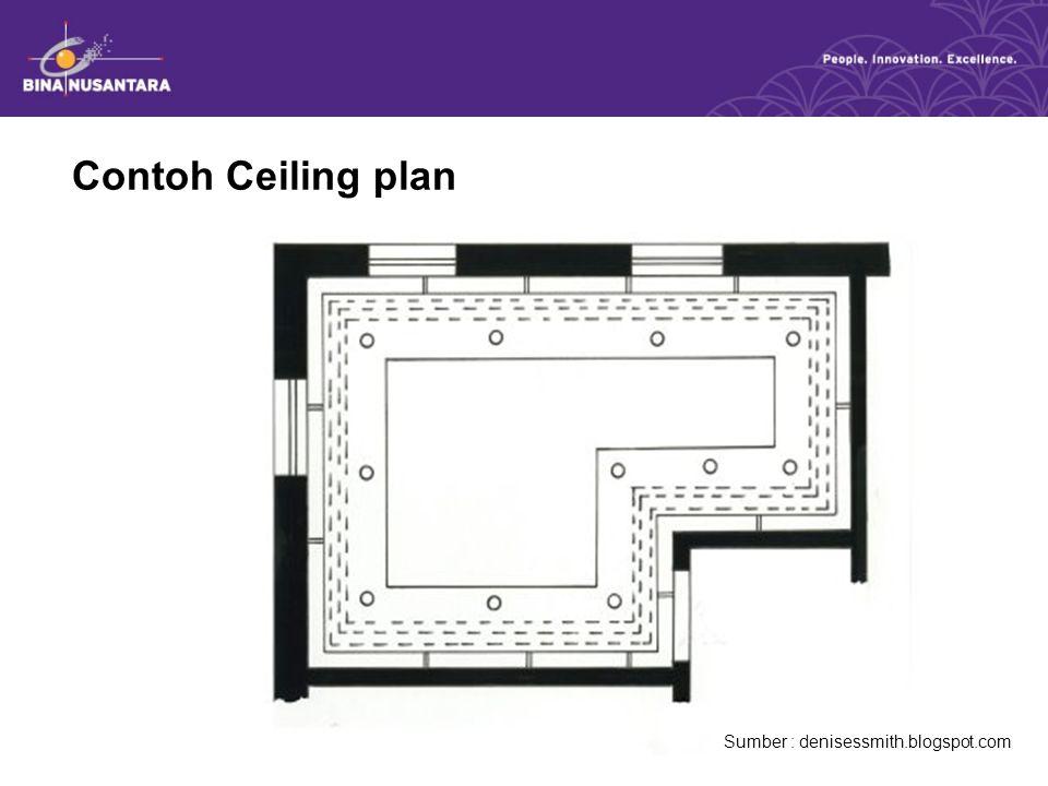 Contoh Ceiling plan Sumber : denisessmith.blogspot.com
