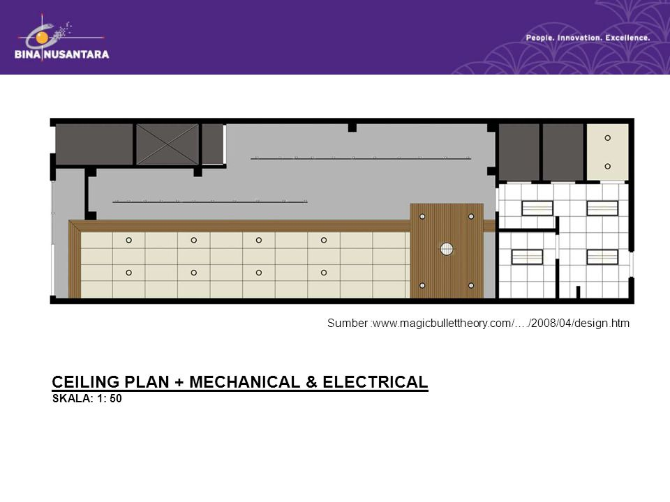 CEILING PLAN + MECHANICAL & ELECTRICAL