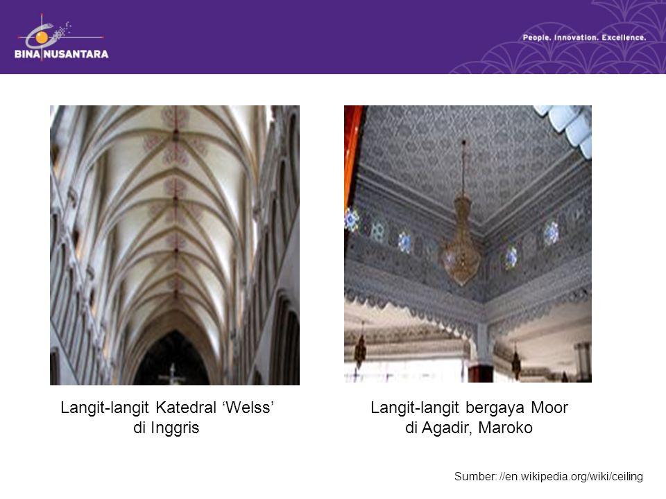Langit-langit Katedral 'Welss' di Inggris
