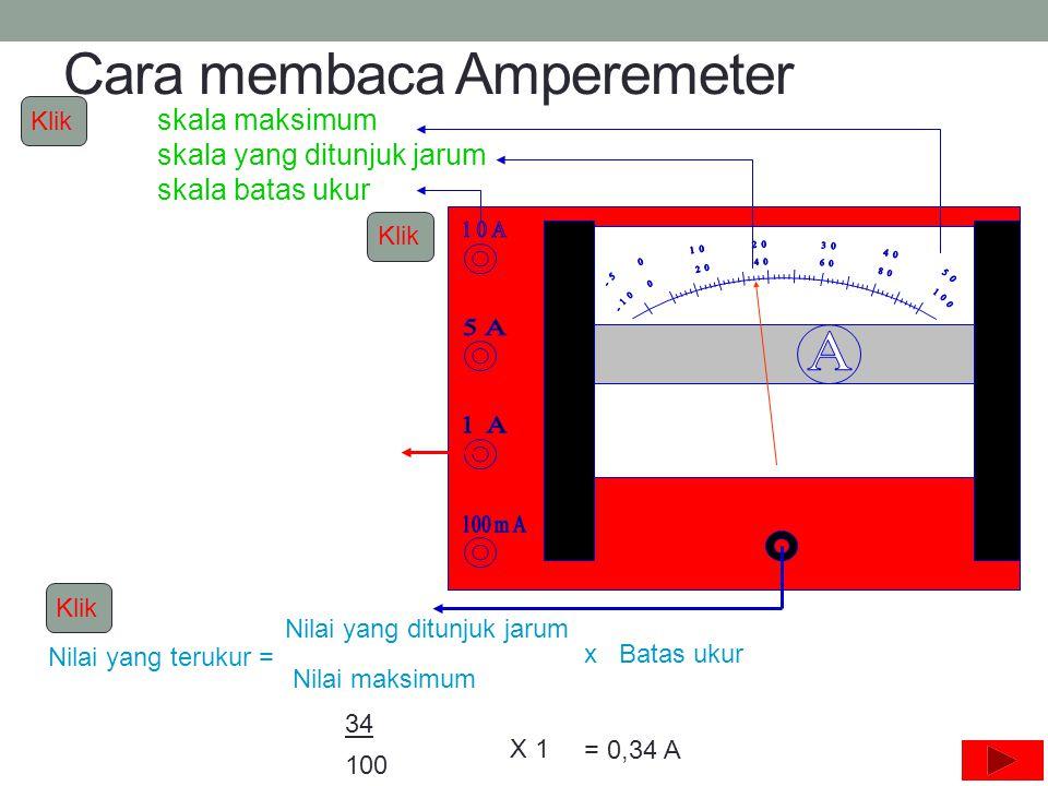 Cara membaca Amperemeter