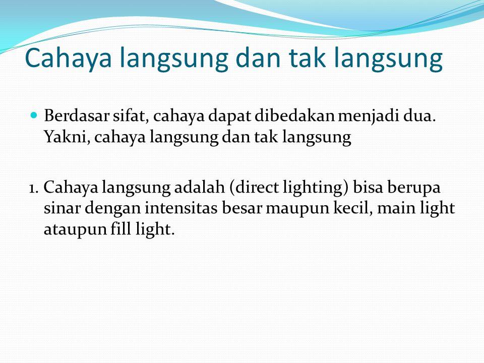 Cahaya langsung dan tak langsung
