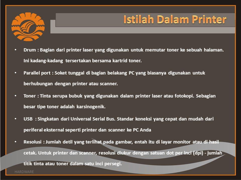 Istilah Dalam Printer