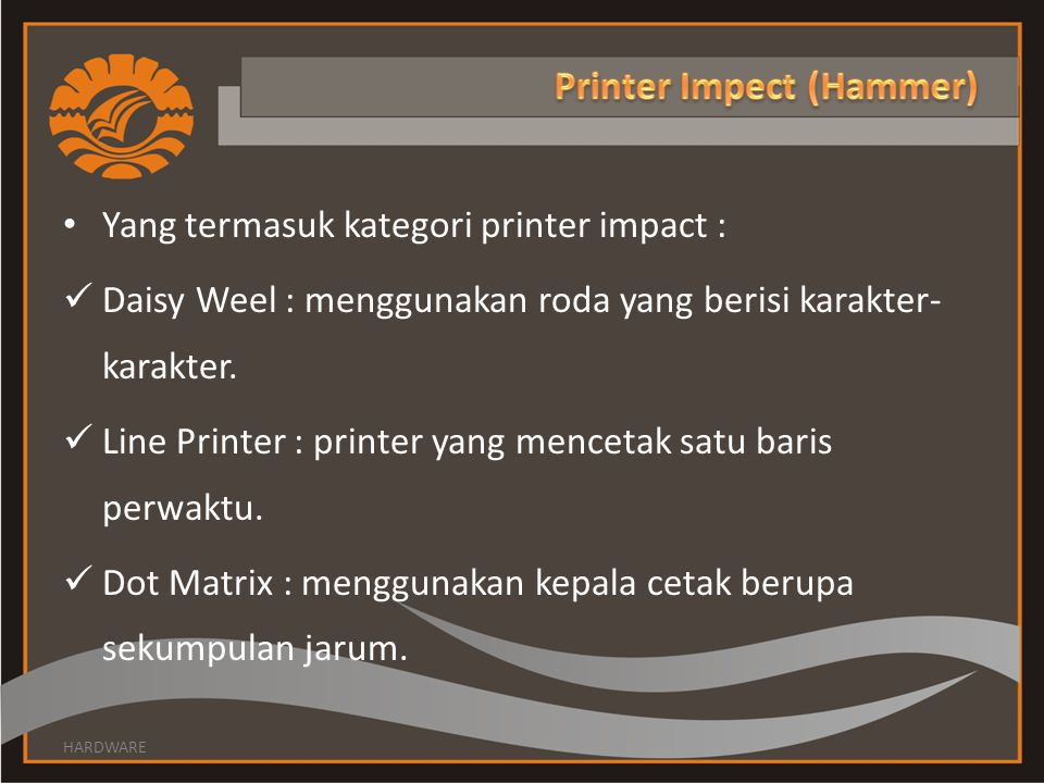 Printer Impect (Hammer)