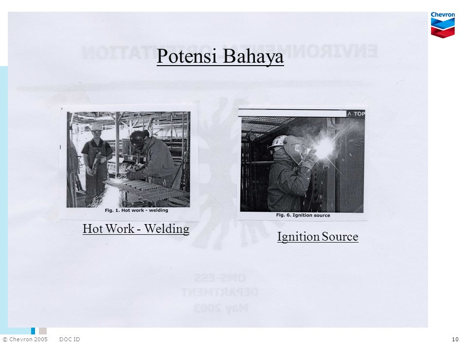 Potensi Bahaya Hot Work - Welding Ignition Source