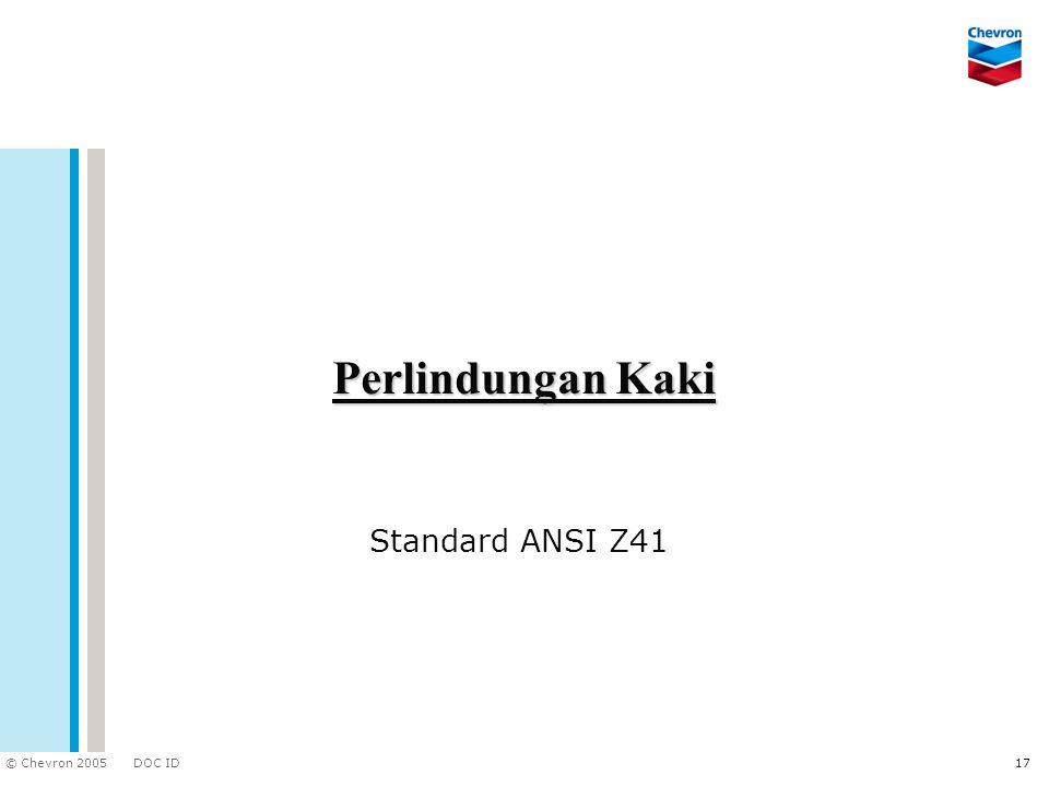 Perlindungan Kaki Standard ANSI Z41