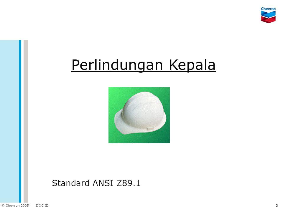 Perlindungan Kepala Standard ANSI Z89.1