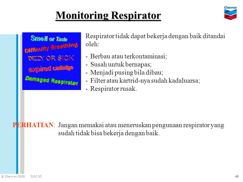 Monitoring Respirator