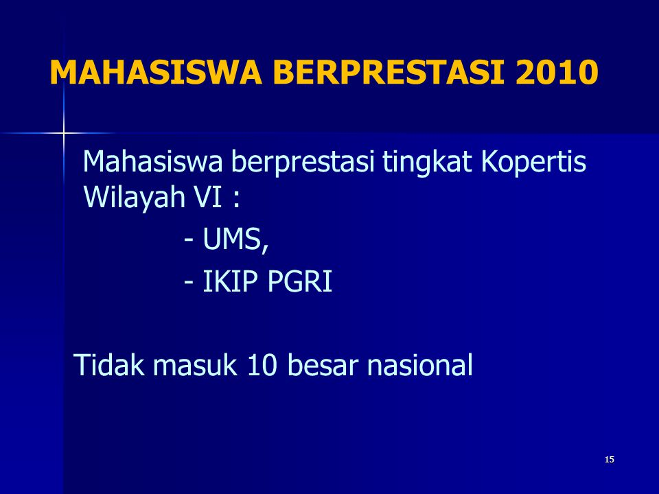 MAHASISWA BERPRESTASI 2010