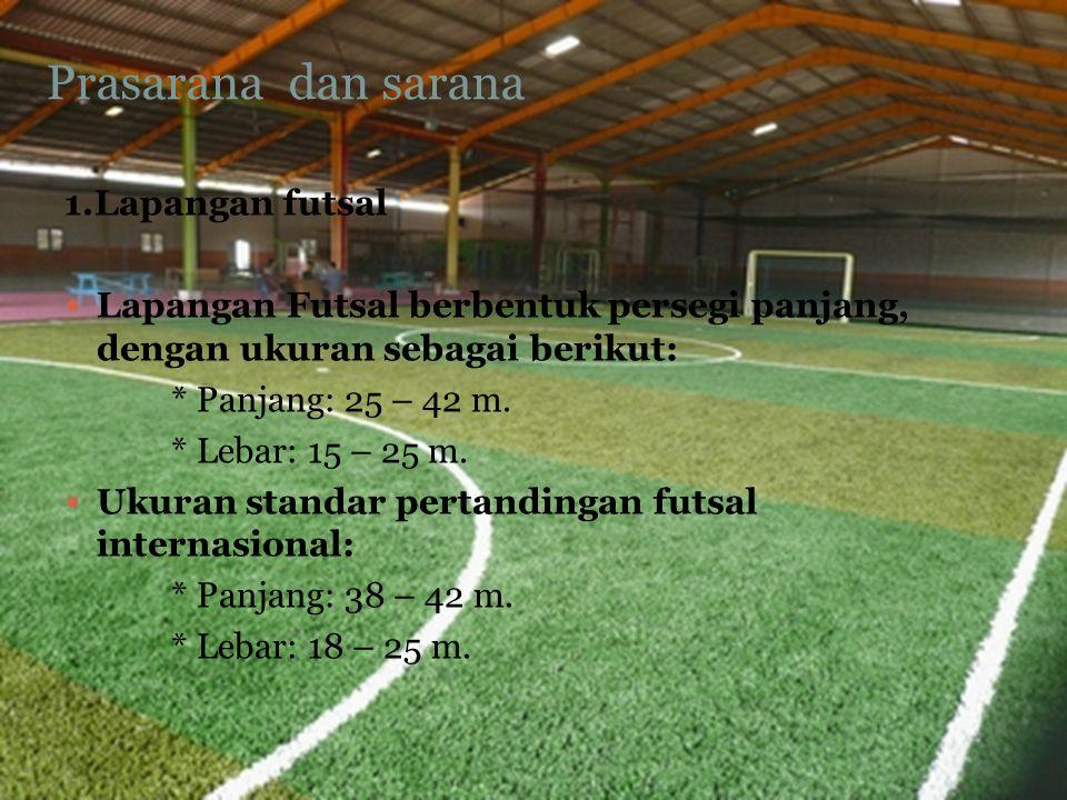 Prasarana dan sarana 1.Lapangan futsal