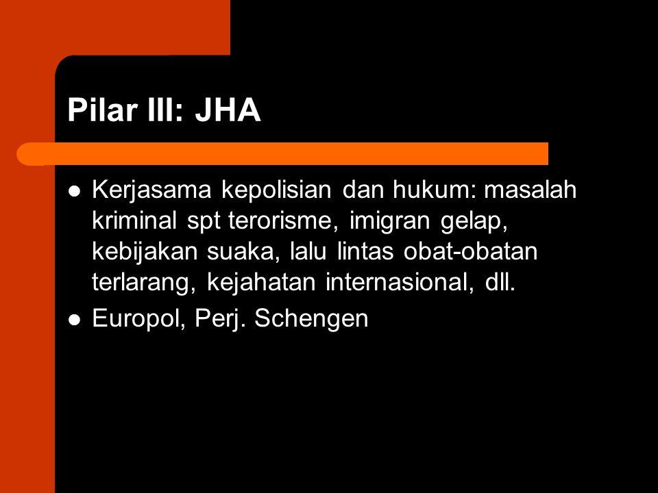 Pilar III: JHA