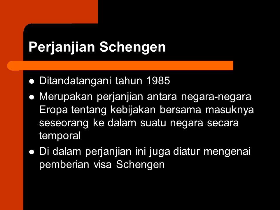 Perjanjian Schengen Ditandatangani tahun 1985