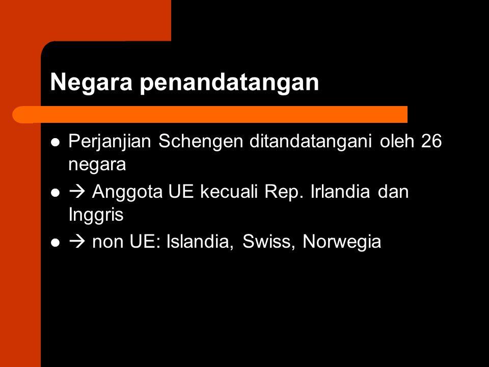Negara penandatangan Perjanjian Schengen ditandatangani oleh 26 negara
