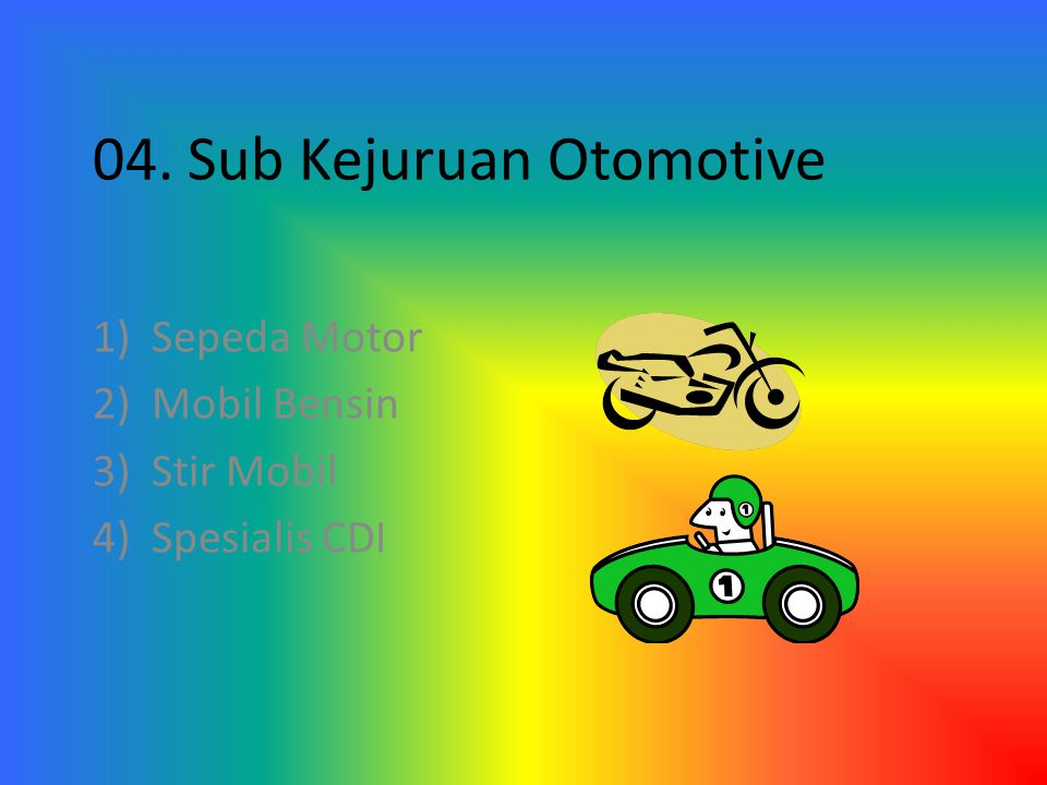 04. Sub Kejuruan Otomotive