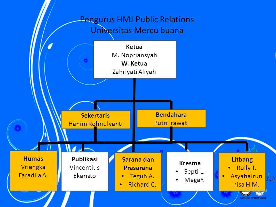 Pengurus HMJ Public Relations Universitas Mercu buana