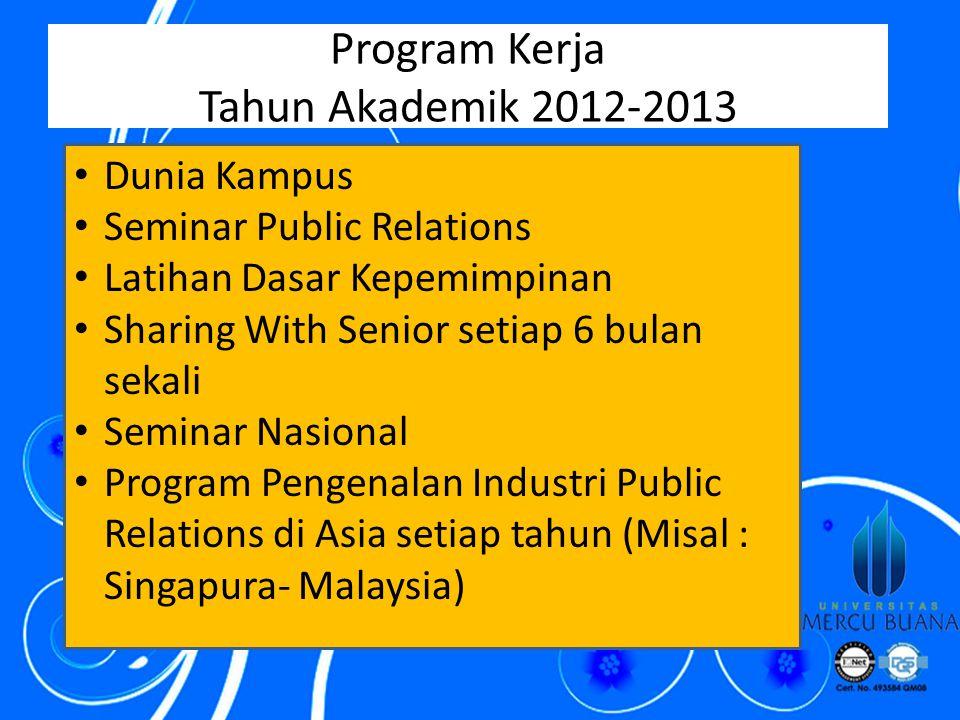 Program Kerja Tahun Akademik 2012-2013
