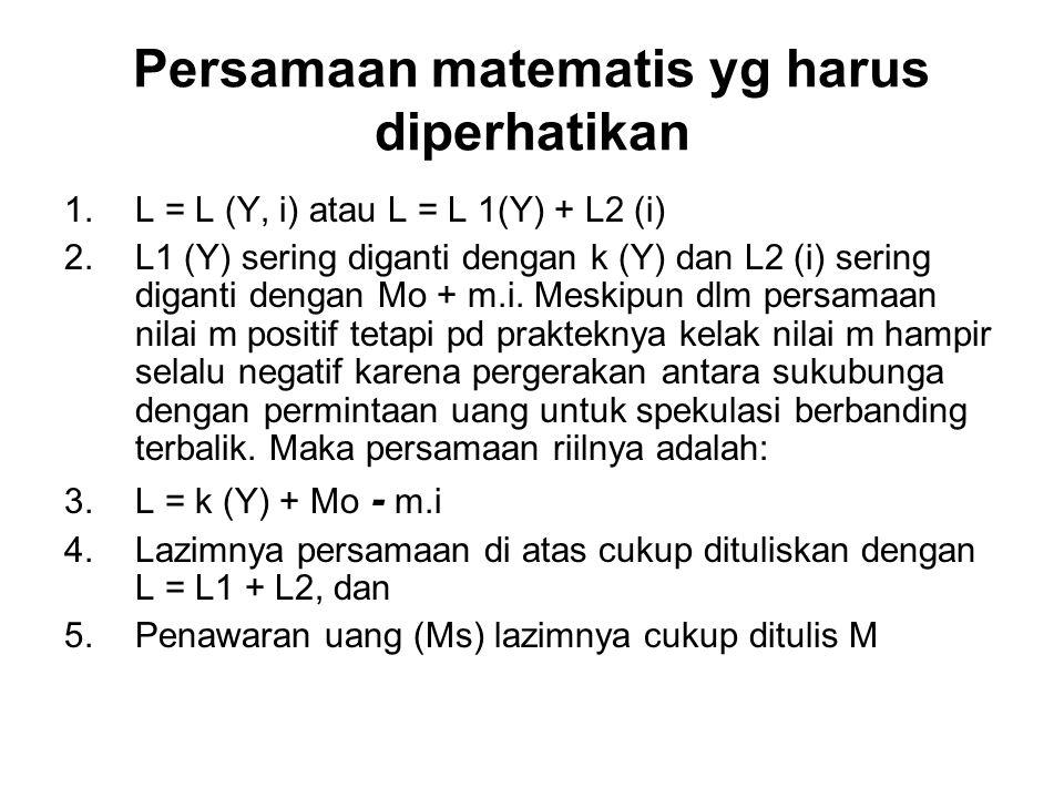 Persamaan matematis yg harus diperhatikan