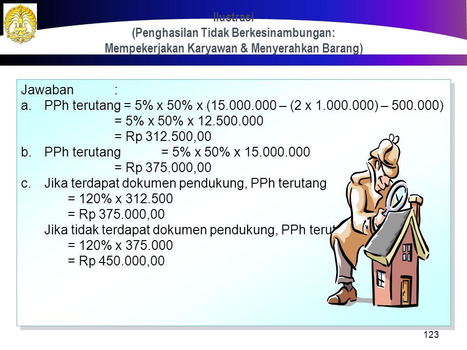 Ilustrasi (Penghasilan Tidak Berkesinambungan: Mempekerjakan Karyawan & Menyerahkan Barang)