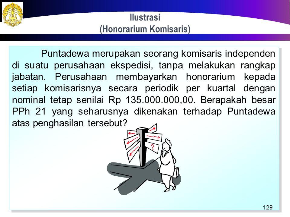 Ilustrasi (Honorarium Komisaris)