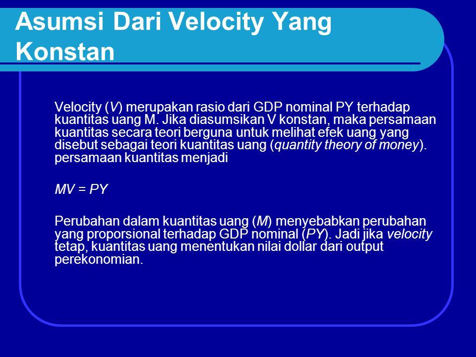 Asumsi Dari Velocity Yang Konstan