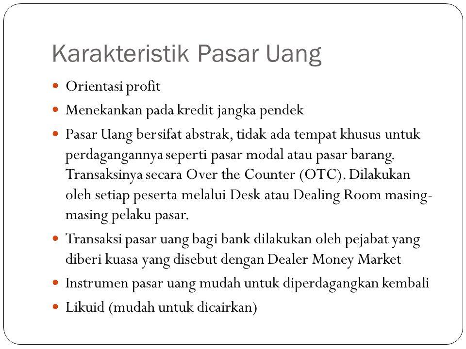 Karakteristik Pasar Uang