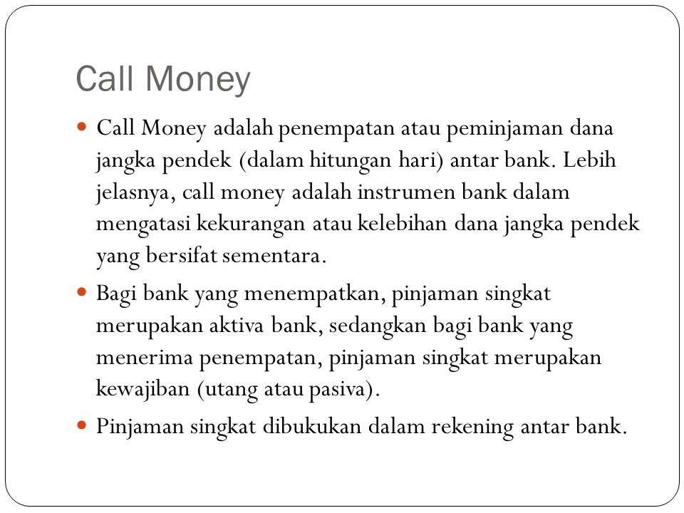 Call Money