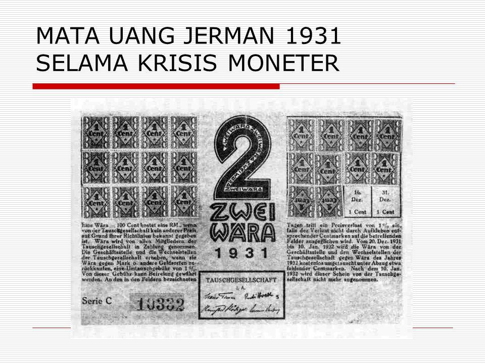 MATA UANG JERMAN 1931 SELAMA KRISIS MONETER
