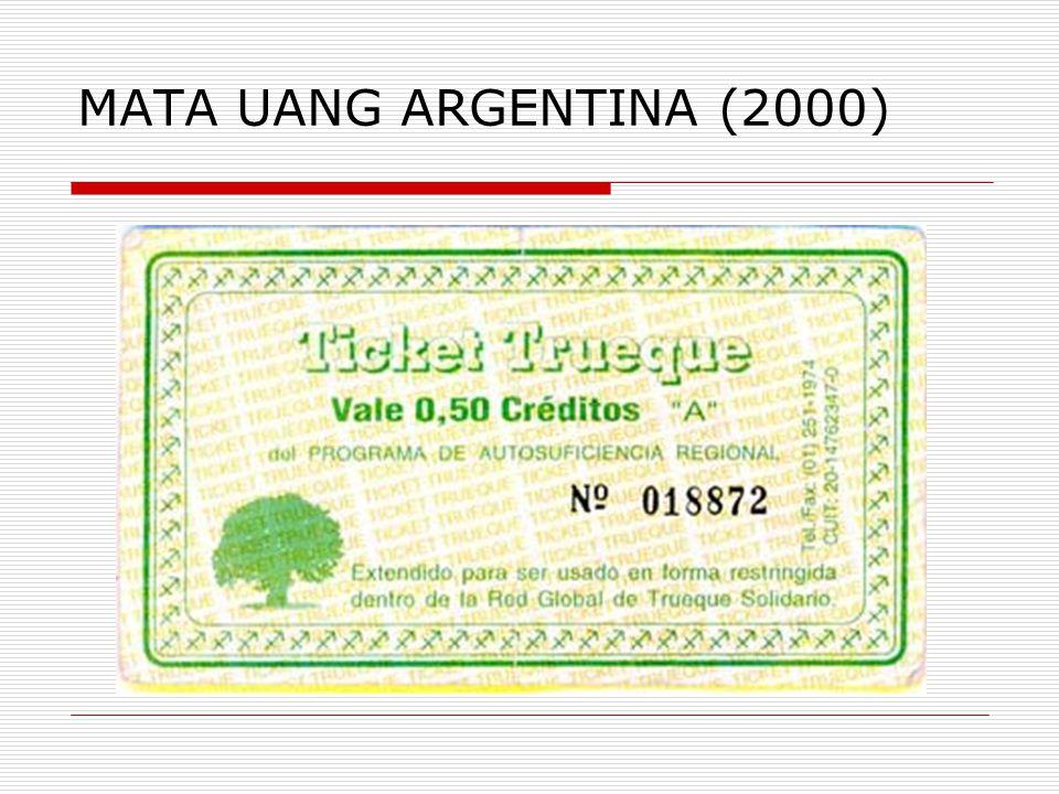 MATA UANG ARGENTINA (2000)