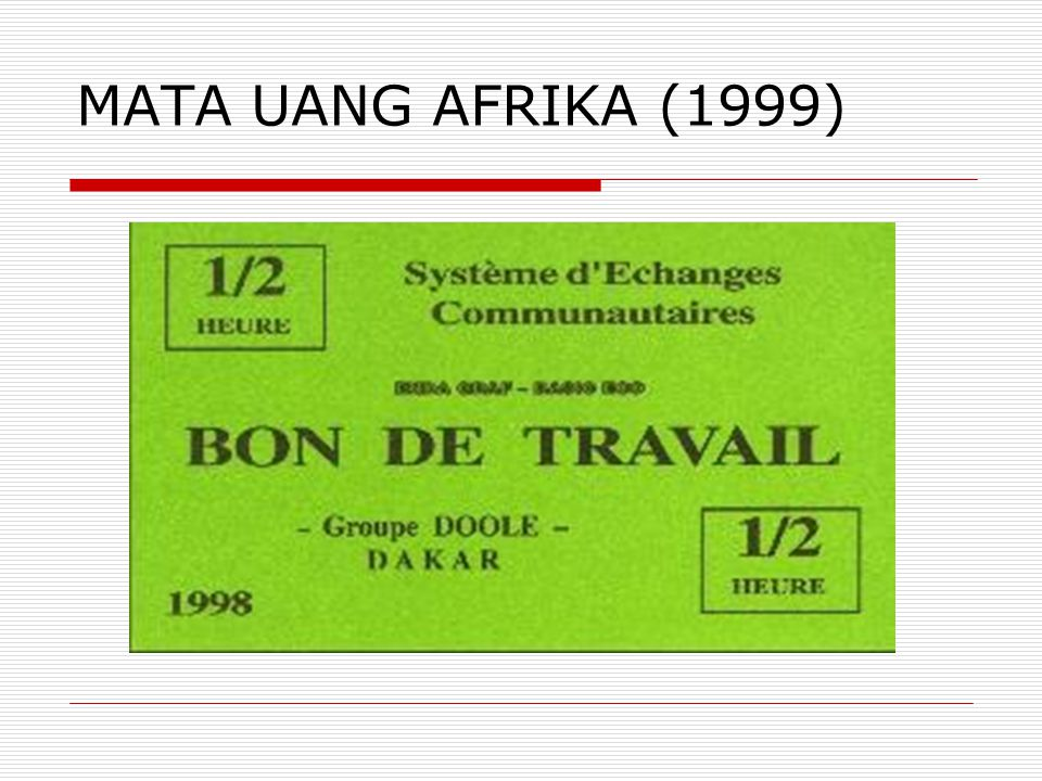 MATA UANG AFRIKA (1999)