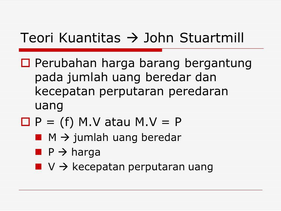 Teori Kuantitas  John Stuartmill