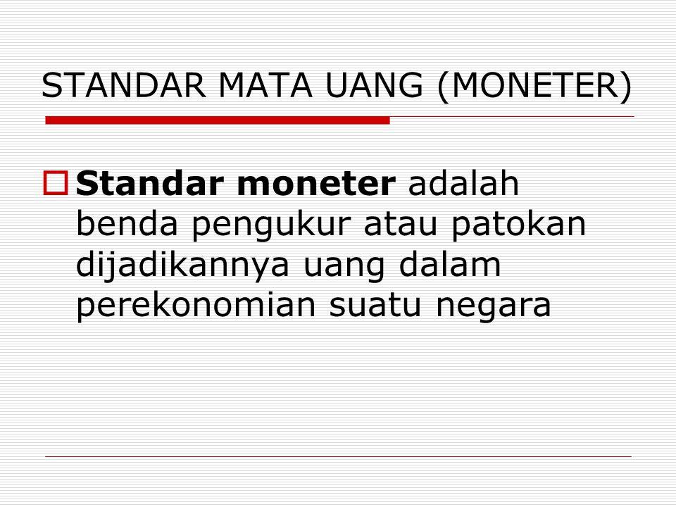 STANDAR MATA UANG (MONETER)