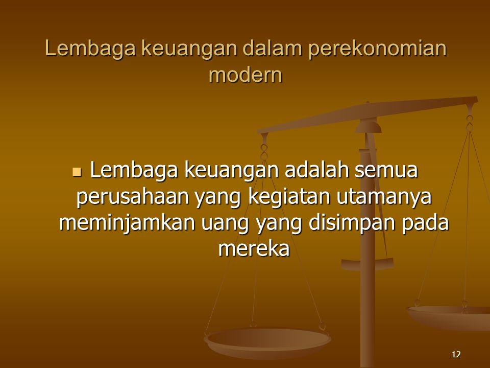 Lembaga keuangan dalam perekonomian modern