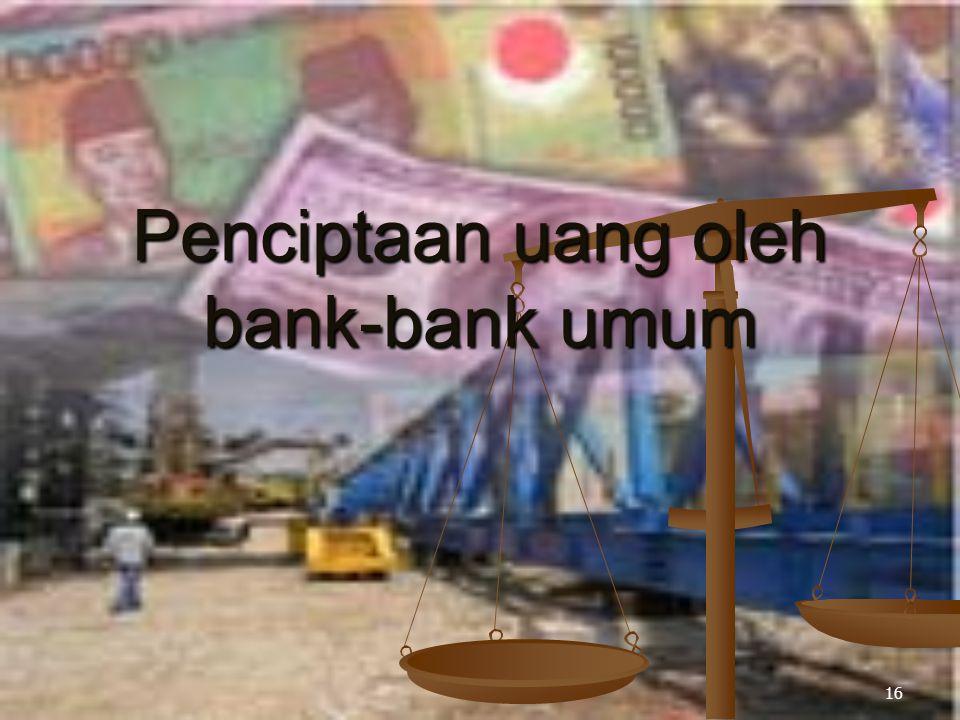 Penciptaan uang oleh bank-bank umum