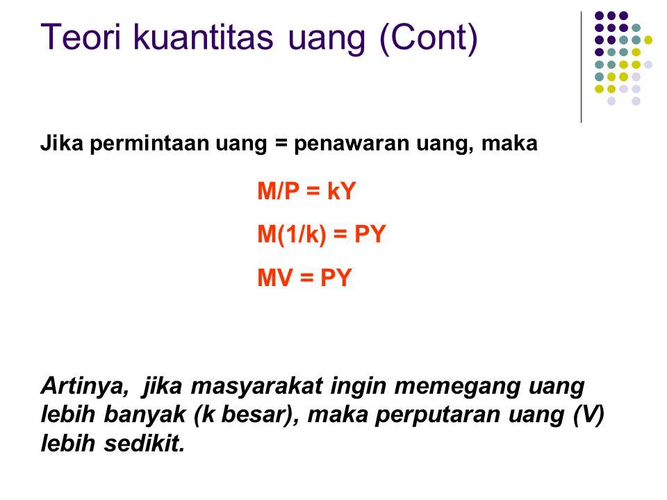 Teori kuantitas uang (Cont)