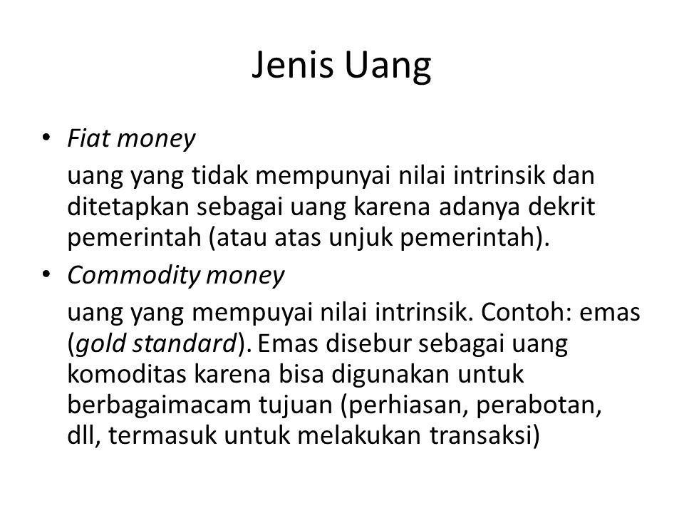 Jenis Uang Fiat money.