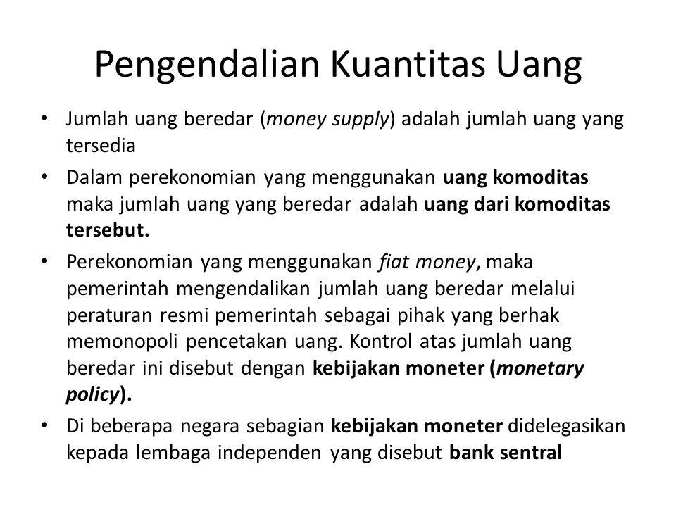 Pengendalian Kuantitas Uang