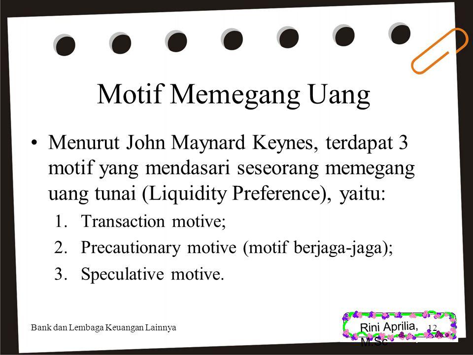 Rini Aprilia, M.Sc Motif Memegang Uang.