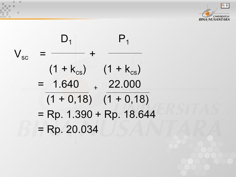 D1 P1 Vsc = + (1 + kcs) (1 + kcs) = 1.640 + 22.000.