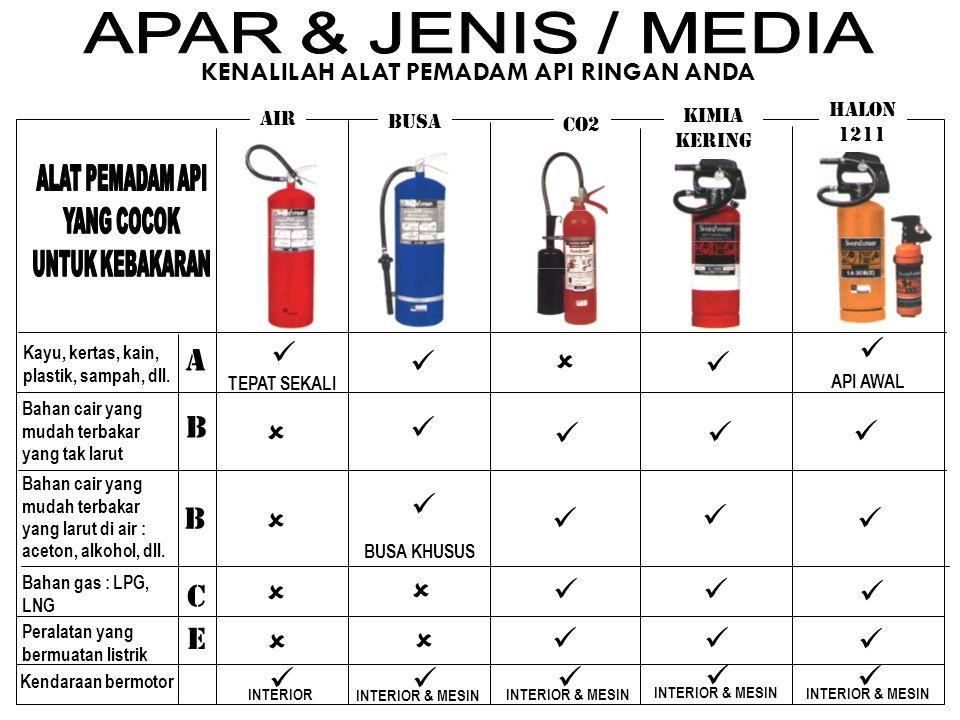 APAR & JENIS / MEDIA   A    B       B       C    E