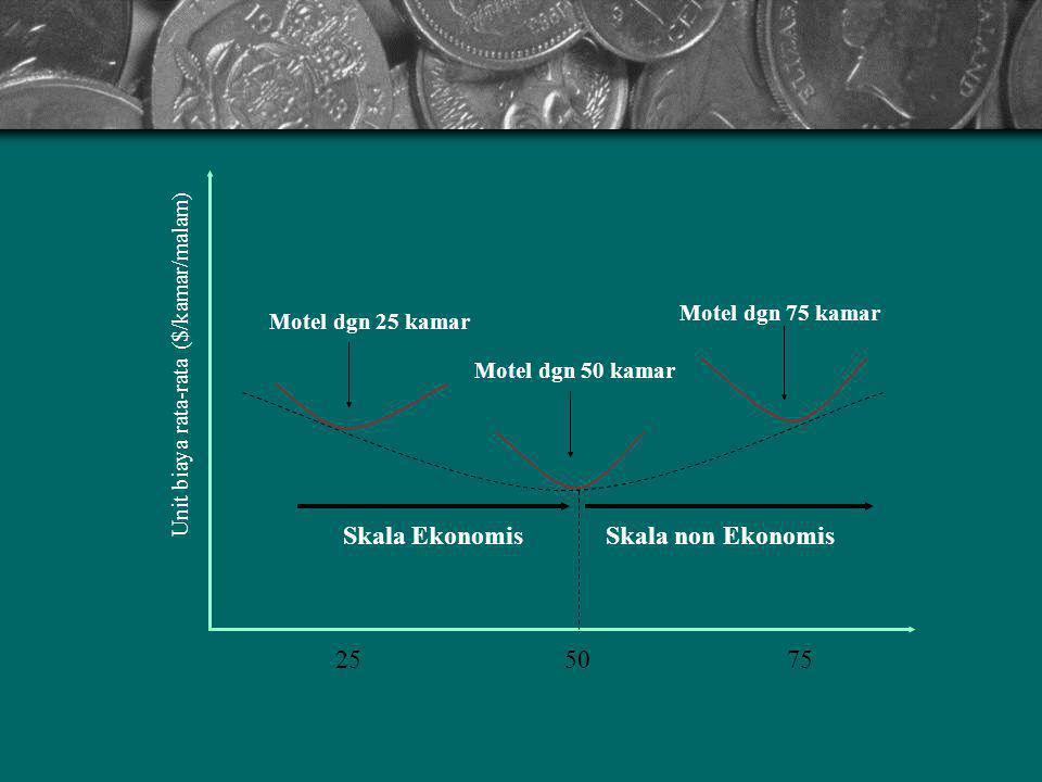 Skala Ekonomis Skala non Ekonomis 25 50 75