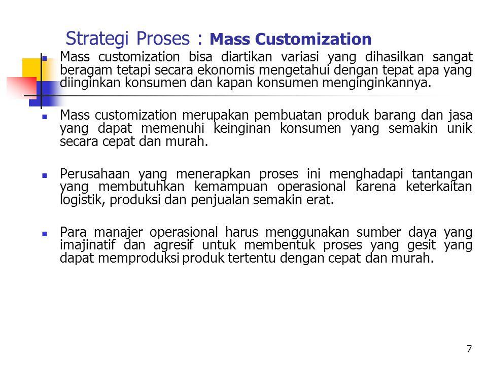 Strategi Proses : Mass Customization