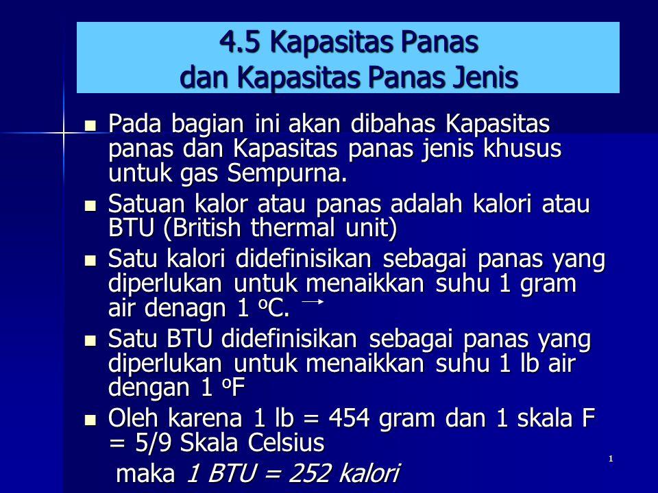 4.5 Kapasitas Panas dan Kapasitas Panas Jenis