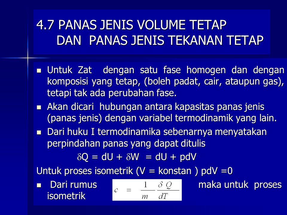 4.7 PANAS JENIS VOLUME TETAP DAN PANAS JENIS TEKANAN TETAP