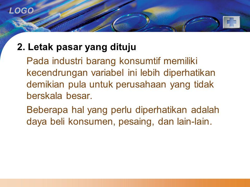 2. Letak pasar yang dituju