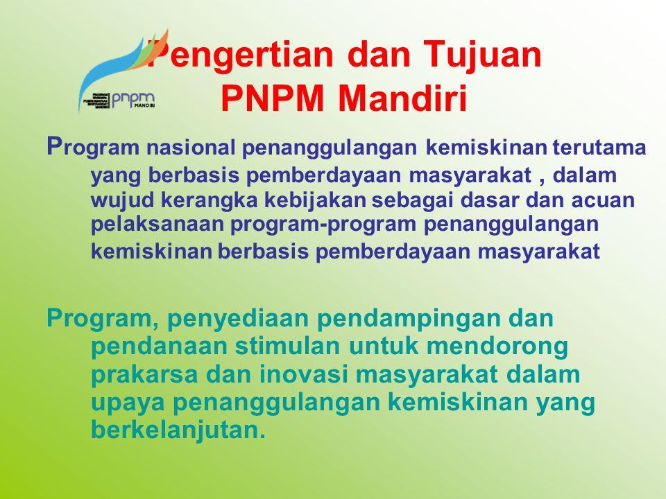 Pengertian dan Tujuan PNPM Mandiri