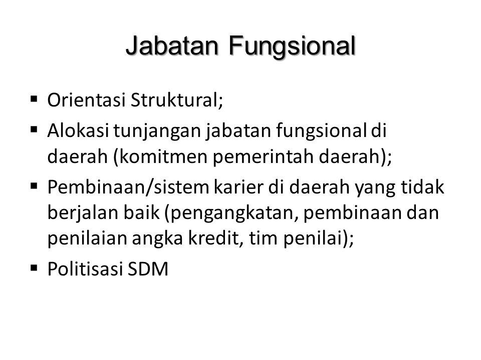 Jabatan Fungsional Orientasi Struktural;