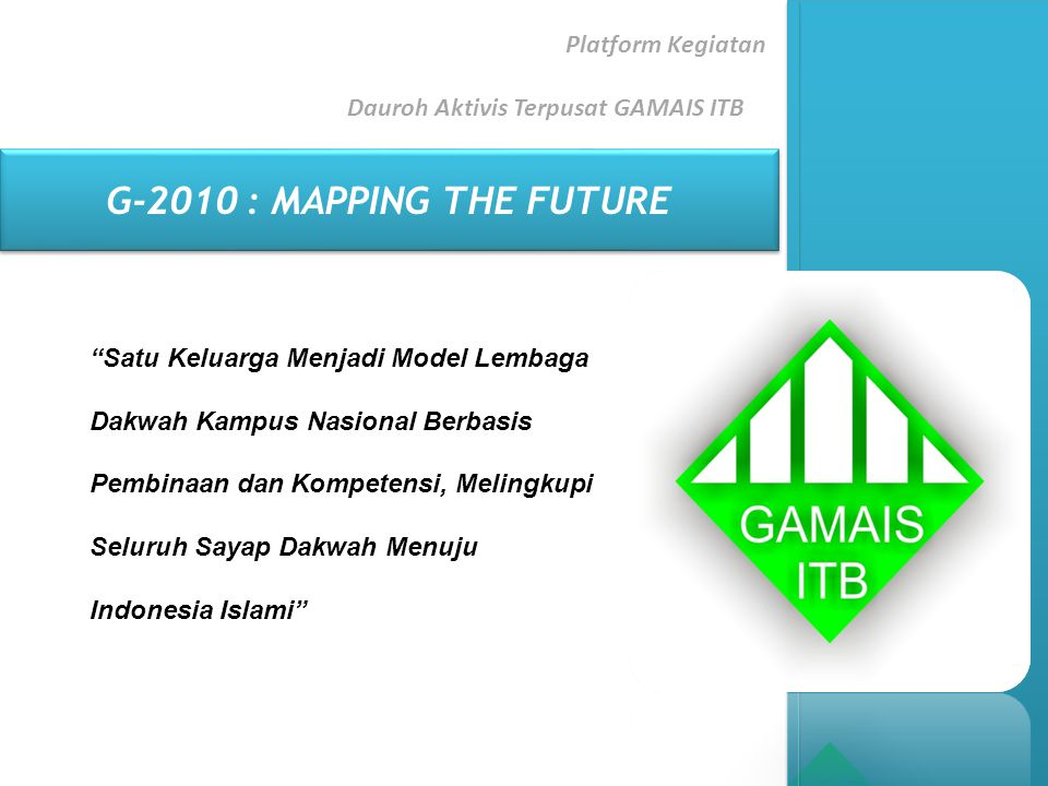 Platform Kegiatan Dauroh Aktivis Terpusat GAMAIS ITB